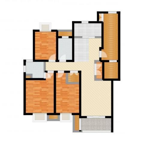 旭日雅筑3室2厅2卫1厨128.00㎡户型图