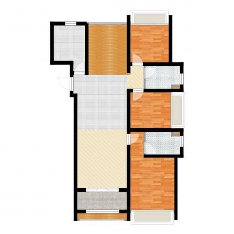 首创・悦都3室2厅2卫1厨118.00㎡户型图