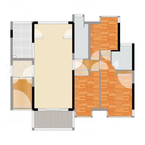 宝能太古城3室2厅2卫1厨152.00㎡户型图