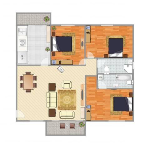 鹭江新城1403室1厅2卫1厨149.00㎡户型图