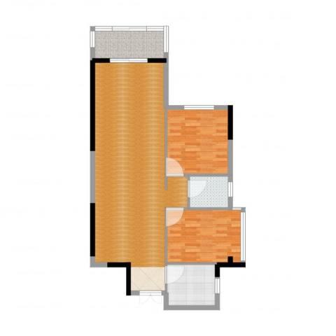 芙蓉公馆2室2厅1卫1厨101.00㎡户型图