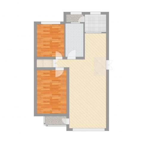 林韵春天2室2厅1卫1厨78.00㎡户型图