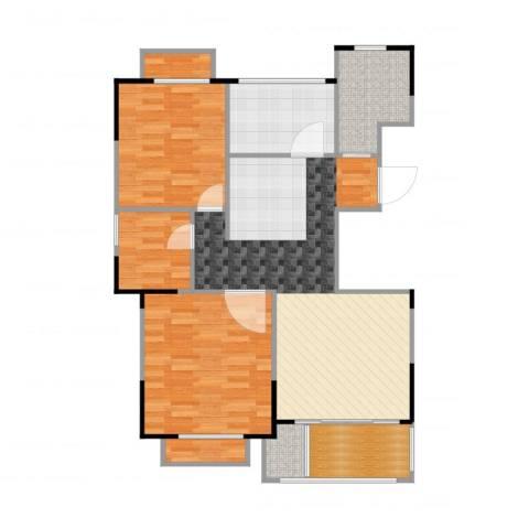 惠泽云锦城1室2厅1卫1厨102.00㎡户型图