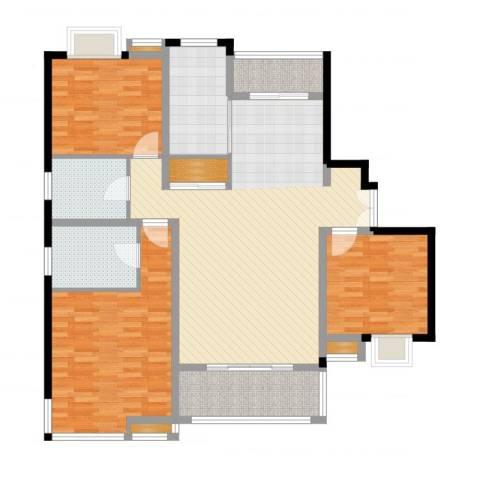 万源城逸郡3室2厅2卫1厨146.00㎡户型图