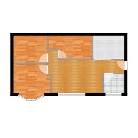地铁古城家园3室2厅1卫1厨64.00㎡户型图