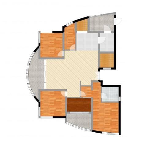 万源城逸郡4室2厅1卫1厨158.00㎡户型图