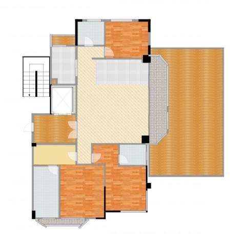德信臻园3室2厅3卫1厨266.00㎡户型图