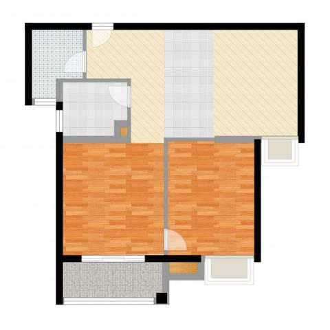 金桥澎湖湾1室1厅1卫1厨89.00㎡户型图