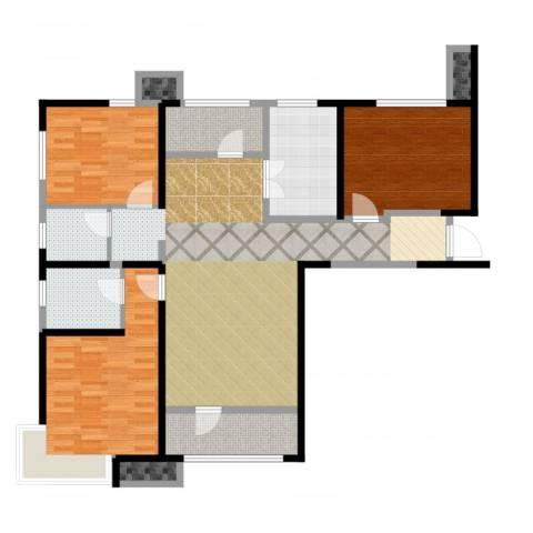 天津湾海景文苑3室2厅2卫1厨126.00㎡户型图