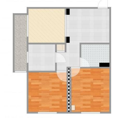 安慧里一区2室2厅1卫1厨64.00㎡户型图