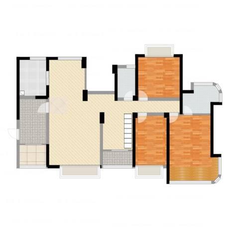凯茵新城3室2厅2卫1厨169.00㎡户型图