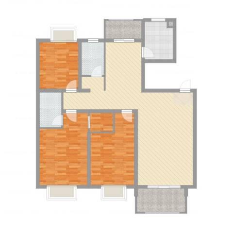报业园3室2厅2卫1厨134.00㎡户型图
