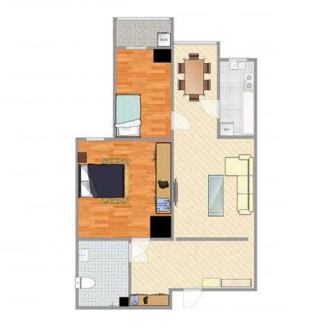博文苑2室2厅1卫1厨89.00㎡户型图