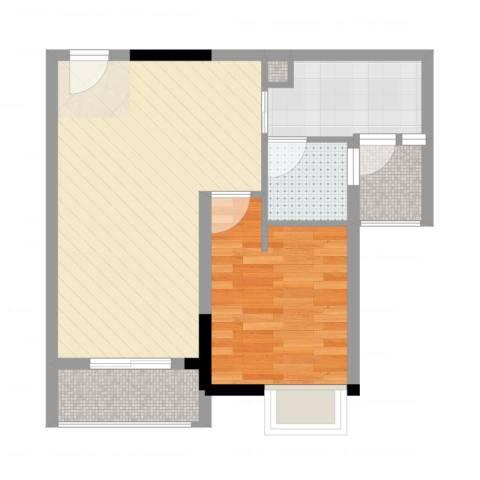 GOGO Park万荟时代1室2厅1卫1厨56.00㎡户型图