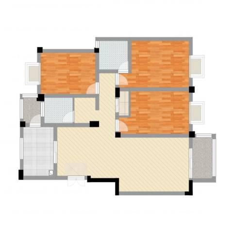 新都华城3室2厅2卫1厨123.00㎡户型图
