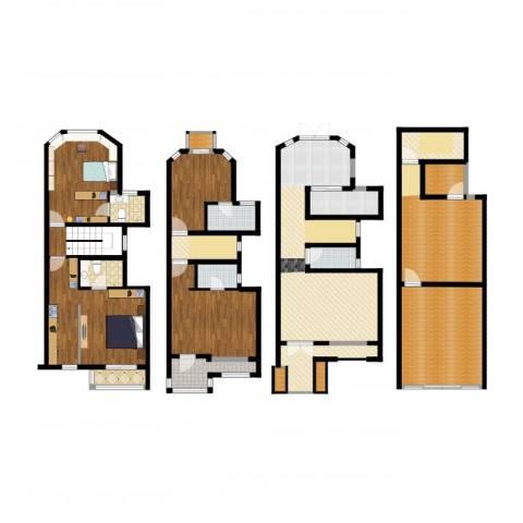 万盛家园2室1厅9卫1厨260.00㎡户型图