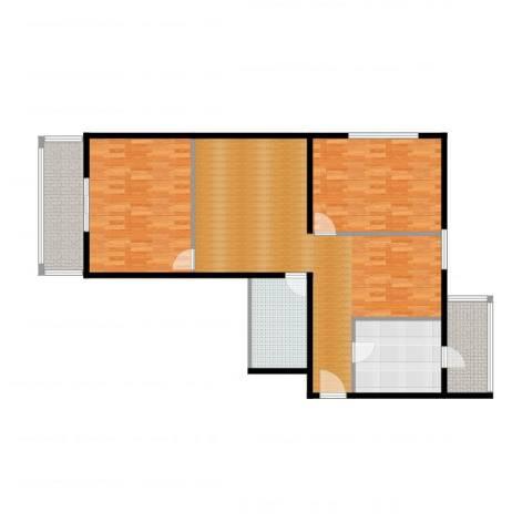 望陶园1室2厅1卫1厨132.00㎡户型图