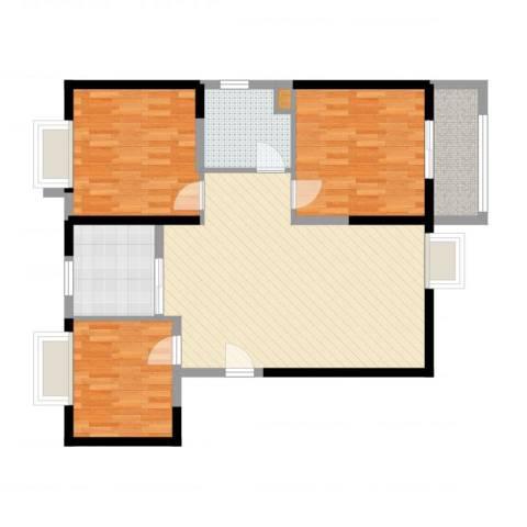 瑞和山水居3室1厅2卫1厨96.00㎡户型图