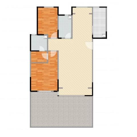 银丰唐郡桂花园2室1厅2卫1厨145.00㎡户型图