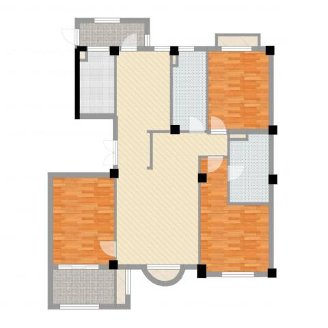 清水绿园3室2厅2卫1厨132.00㎡户型图