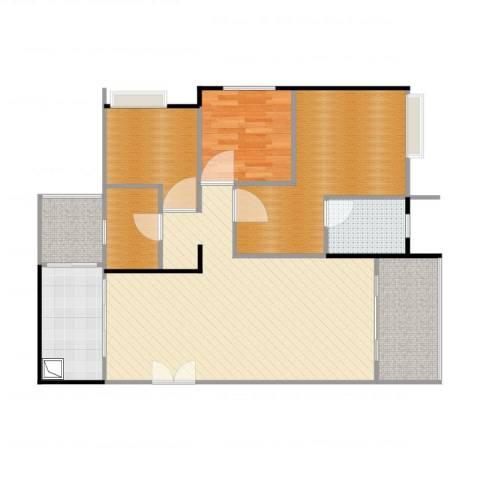 光华可乐小镇1室2厅4卫1厨117.00㎡户型图