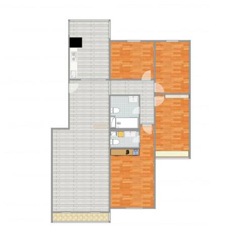 太阳城4室1厅2卫1厨161.00㎡户型图
