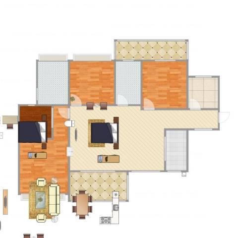 中洋公园首府4室1厅2卫1厨147.00㎡户型图