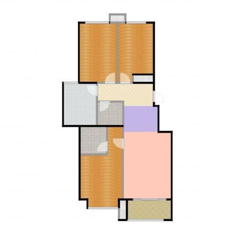 北京城建・海梓府2室2厅2卫1厨107.00㎡户型图