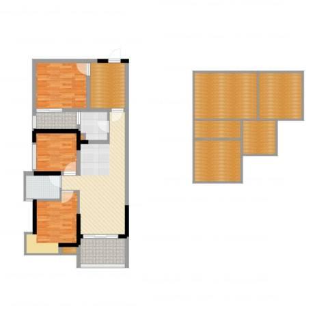 万江住宅3室2厅1卫1厨102.00㎡户型图