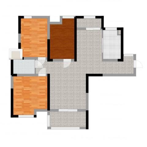 济民可信艾溪康桥3室1厅2卫1厨108.00㎡户型图
