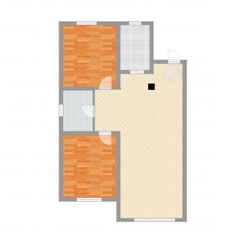 半山公馆2室2厅1卫1厨103.00㎡户型图