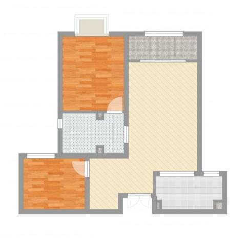 五矿榕园旷世公馆2室2厅5卫1厨76.00㎡户型图