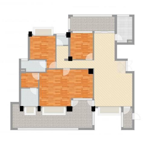 义乌荷塘月色3室2厅3卫1厨178.00㎡户型图