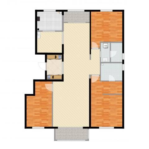 茶乡之家3室5厅2卫1厨177.00㎡户型图