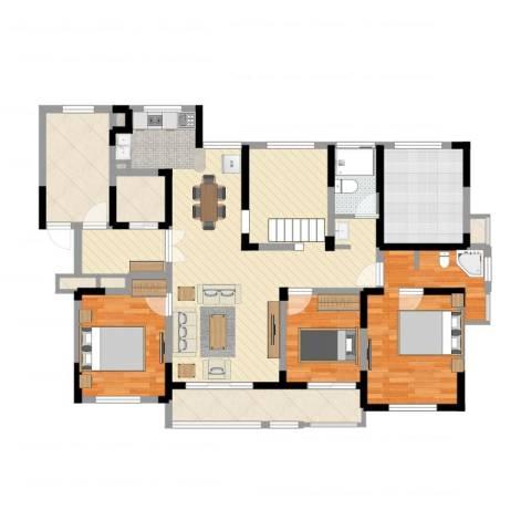 金色城邦3室2厅5卫4厨125.00㎡户型图