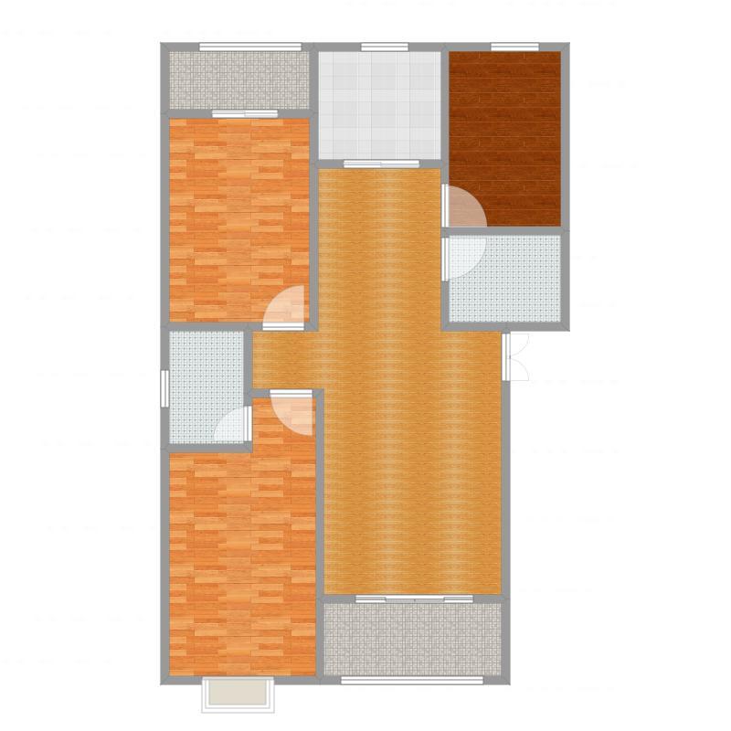 滨江金色黎明三期21幢3单元02室奇数层172方户型