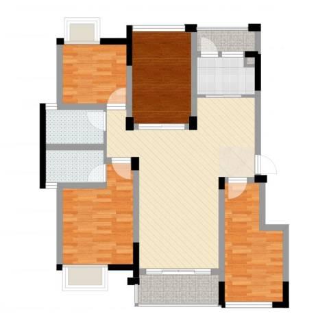 南湖学府4室2厅3卫1厨100.00㎡户型图