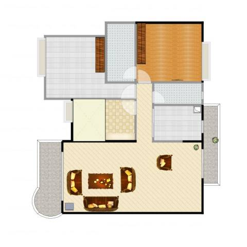 楼村花园2室1厅3卫1厨133.00㎡户型图