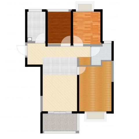 万业·观山泓郡3室1厅1卫1厨99.00㎡户型图