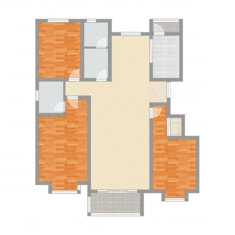 巨海城八区3室4厅2卫1厨152.00㎡户型图