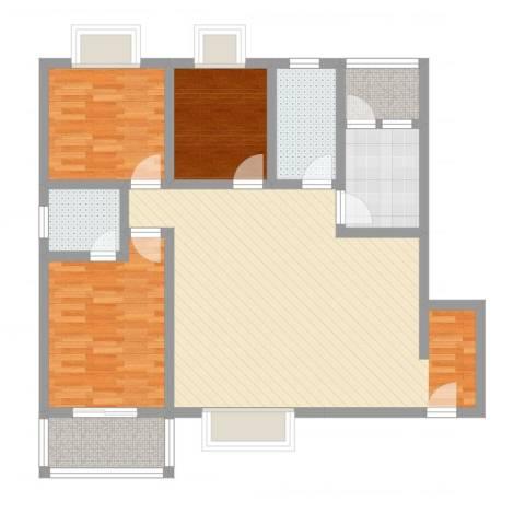 双语雅苑3室2厅2卫1厨103.00㎡户型图