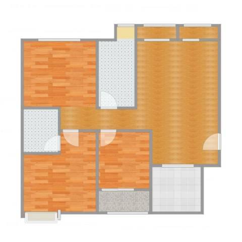 航空祥郡3室1厅4卫1厨91.00㎡户型图