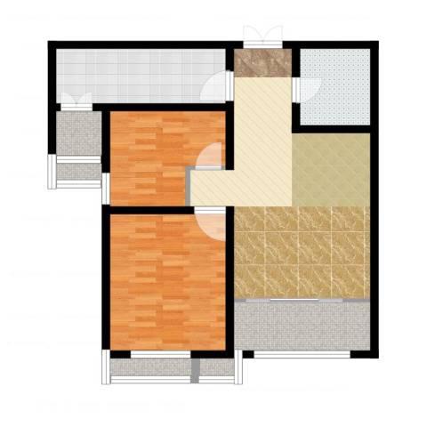 宇泰泰悦2室2厅1卫1厨97.00㎡户型图