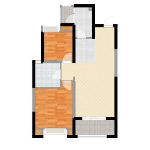 紫薇东进2室2厅1卫1厨69.00㎡户型图