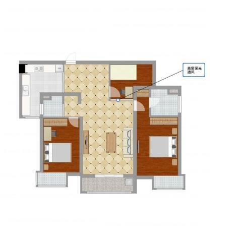 第五元素3室2厅2卫1厨105.00㎡户型图