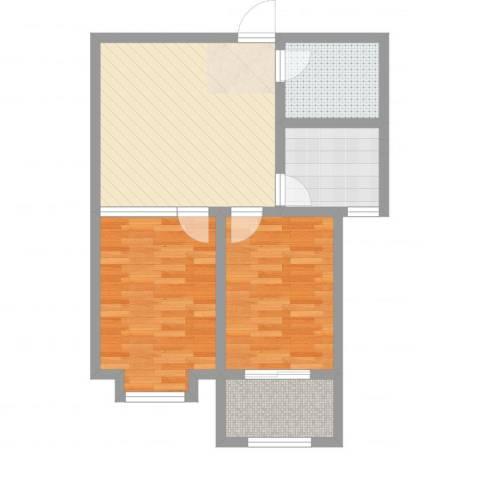 金玉豪庭2室2厅1卫1厨67.00㎡户型图