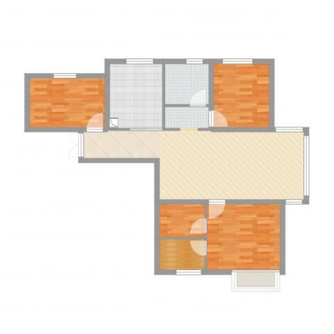 新希望乐城4室2厅1卫1厨98.00㎡户型图