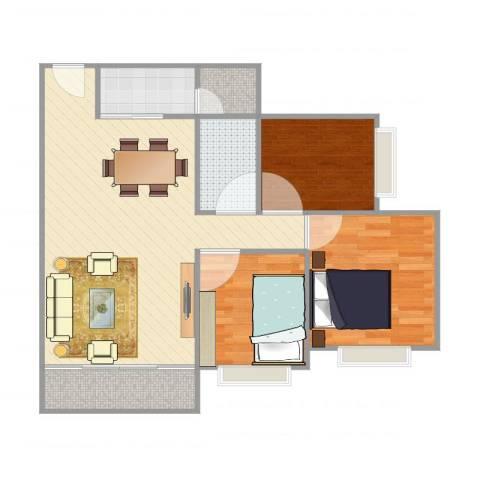 映翠豪庭3室1厅1卫1厨80.00㎡户型图