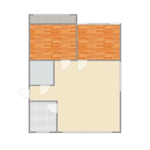 新天泰花园2室1厅1卫1厨112.00㎡户型图