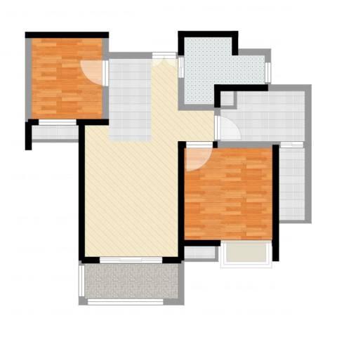 绿地波士顿公馆2室2厅1卫1厨90.00㎡户型图